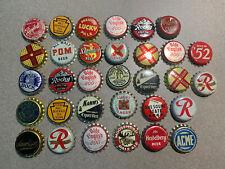 (32) Beer Cork Bottle Caps, mixed lot