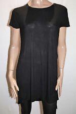 Sportsgirl Brand Black Short Sleeve Split Sides T-Shirt Top Size M BNWT #TQ110