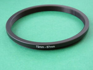 72-67 72mm-67mm Stepping Step Down Male-Female Filter Ring Adapter 72mm-67mm