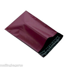 """100 Burgundy 4.7""""x6.7"""" Mailing Postage Postal Mail Bags"""