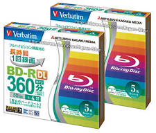 10 Verbatim Blu ray 50gb 4x Dual Layer Bluray Inkjet Printable Recordable Media