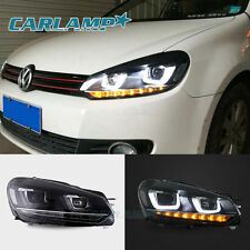 LED Headlights For VW Volkswagen Golf 6 MK6 2010-2014  DRL Golf 7 Look DRL