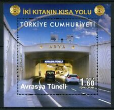 Turkey 2017 MNH Eurasia Tunnel 1v M/S Tunnels Cars Motoring Architecture Stamps