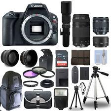 Canon EOS Rebel SL2 / 200D + 6 Lens 18-55 STM, 75-300, 50, 500 + 32GB PRO KIT!
