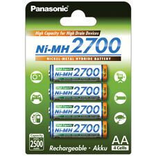 4x AA Panasonic Mignon Akku 2500mAh für Solarlampen Solarleuchten Lichterkette
