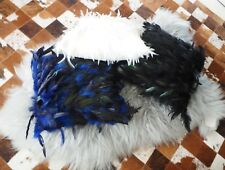OSTRICH FEATHER CUSHION COVERS  - 40CM SQ - ADD COLOUR & TEXTURE TO YOUR COUCH