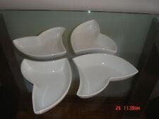 Franca Versari Snacksschale, 4 Tlg,Neuwertig,  Weiß