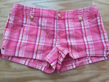 Guess girl Short jeans Checks stretch Pink Color