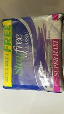 3 Pack! Stayfree Classic, Super Maxi 24 Pads Per Pack, Heavy+Flow Special Value!