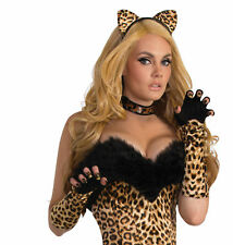 Leopard Cat Fingerless Gloves Adult Costume Accessory NEW One Size