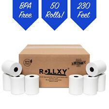 "3-1/8"" x 230' Thermal Pos Receipt Printer Roll Paper Bpa Free Usa - 50 Rolls"