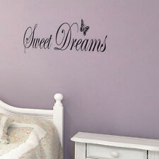 Sweet Dreams Wall Decals Butterflies Quote Wall Decors Family Room Wall Stickers