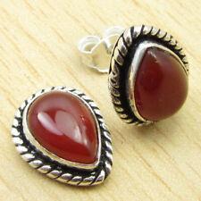 "Drop Carnelian Free Shipping Earrings 0.6"" Silver Plated Jewelry WHOLESALE PRICE"