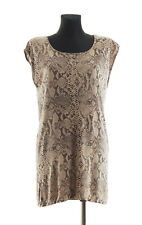 By Malene Birger Women's Snake Print sleeveless Ladimo T-shirt Size S * RRP €109