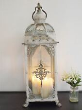 Fluer de Lys Rustic Cream Large Lantern