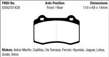 EBC Yellowstuff Brake Pad Set Rear / Front for 12-15 Genesis / 06-10 STS