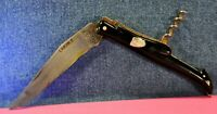 """LAGUIOLE""  VTG c.1969's  FRENCH HANDMADE BLACK BAKELITE HANDLE POCKET KNIFE"