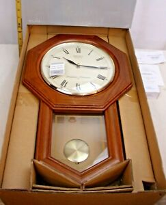 SEIKO WESTMINSTER WHITTINGTON CHIMING WALL CLOCK IN OAK BOXED NEW UNUSED