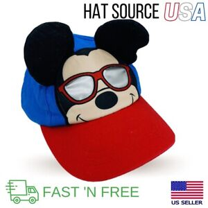 Disney Baby Mickey Mouse Sun Baseball Hat With 3-D Ears 6-12M