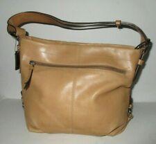 Coach Duffle Convertible Crossbody Leather Handbag F15064 Tan/Light Brown
