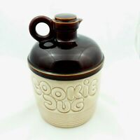 Vintage Ceramic Cookie Jug Cookie Jar Brown And Cream Large Made in Japan Home