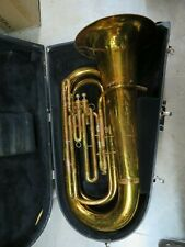 King 1140 3/4 BBb Tuba in Lacquer w case, Serviced & Ready to Play #KTB03