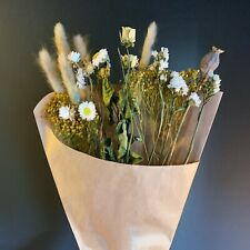 Small Tied Dried Flower Bouquet, Natural Meadow Wildflowers, Daisy Cosmos Grass