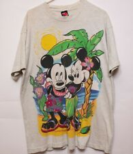 Vtg Disney Mickey And Minnie Mouse Tropical Island T shirt (XL ?) Jerry Leigh