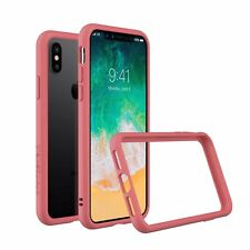 iPhone X Slim Bumper Case [Crashguard] ShockProof Protective Cover - Coral Pink
