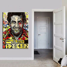 Alec Monopoly Oil Painting on Canvas Urban art Wall Decor Pablo Escobar 24x34""