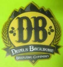 DB, DEVILS BACKBONE BREWING COMPANY Gold Trim Beer STICKER, Lexington, VIRGINIA