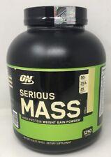 Optimum Nutrition Serious Mass Whey Protein Weight Gainer, Vanilla, 6 Pound(AMi)