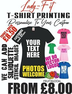 Personalised t shirt Women Printing Custom Text Logo T-Shirt Hen Party lady Tops