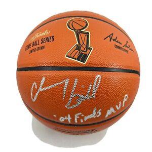 CHAUNCEY BILLUPS SIGNED NBA FINALS SPALDING BASKETBALL PISTONS JSA COA