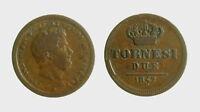 s544_50) Napoli Due Sicilie Ferdinando II (1830-1859) 2 Tornesi 1842