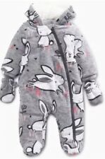 BNWT Bunny Fleece All In One Snowsuit NEXT Age 3-6 Months
