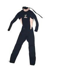 Seavenger Full Wetsuit Girls Size 4 Black Pink Seahorse