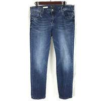 KUT from the Kloth Womens Boyfriend Denim Blue Jeans Size 12 Stretch Distressed