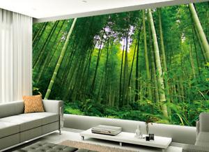 3D Sunshine Bamboo Forest 9 Wallpaper Mural Paper Wall Print Wallpaper Murals UK