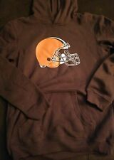 boys NFL team apparel Cleveland browns hooded sweatshirt size XL18/20