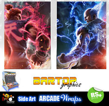 Tekken lados Bartop Arcade obras de arte pegatinas Gráfico superpuesto de lados