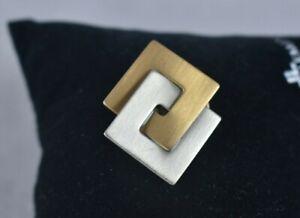Modeschmuck Brosche , Anstecker in Gold und Silber mit Klickverschluss