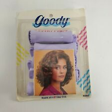 🇺🇲 Vintage 1991 Goody Purple 5 Extra Large Perm Rod Curlers NOS Made USA NIP