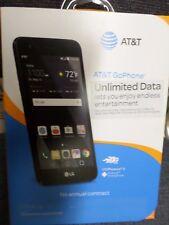 "NEW AT&T GoPhone LG Phoenix 3 5"" 4G LTE 16 GB GSM - Black + Free fast shipping"