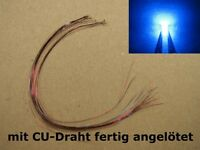 S1043 - 10 Stück SMD LEDs 0805 blau mit Draht Kupferlackdraht fertig angelötet