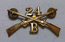 Spanish American Wars 24th Infantry Regiment (AFRICAN AMERICAN) Troop B Badge