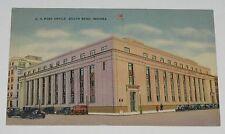 VINTAGE POSTCARD ~ U.S. POST OFFICE. SOUTH BEND INDIANA IN  UNUSED LINEN