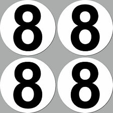 4 Aufkleber Sticker Start Nummer 8 Ziffer Zahl Racing Kart Gokart Auto Rennsport