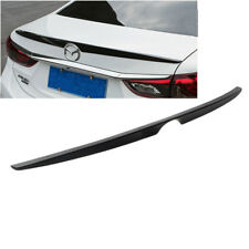 Black Painted OE-Type Rear Tail Trunk Lip Spoiler Wing For MAZDA 6 ATENZA 14-18