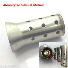 Exhaust Muffler Can Insert Baffle DB Killer Silencer 51mm For Motorcycle Silver